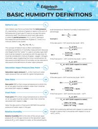 TN-Humidity Definitions